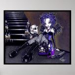 Gabriella Gothic Blue Skull Angel Poster