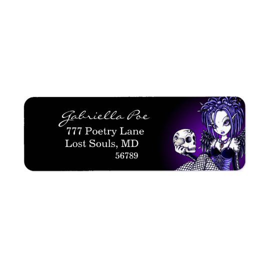 """Gabriella"" Gothic Skull Angel Labels"