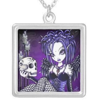 """""""Gabriella"""" Gothic Skull Angel Necklace"""