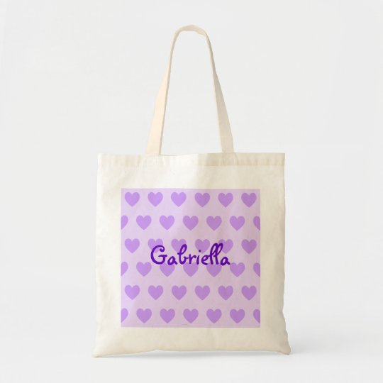 Gabriella in Purple Tote Bag
