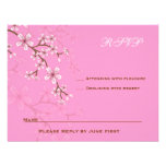 Gabriella Pink Blossoms Bat Mitzvah RSVP Personalised Announcement