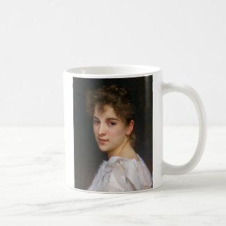 Gabrielle Cot by William Adolphe Bouguereau 1890 Basic White Mug