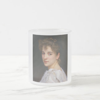 Gabrielle Cot by William Adolphe Bouguereau 1890 Frosted Glass Coffee Mug