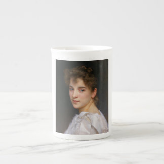 Gabrielle Cot by William Adolphe Bouguereau 1890 Bone China Mug