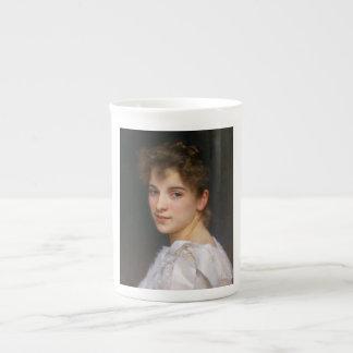 Gabrielle Cot by William Adolphe Bouguereau 1890 Porcelain Mugs
