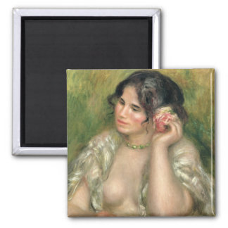 Gabrielle with a Rose 1911 Fridge Magnet