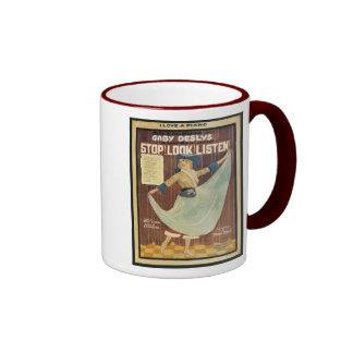 Gaby Deslys Stop! Look! Listen! Vintage Songbook C Ringer Mug