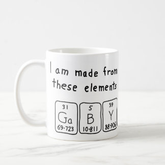 Gaby periodic table name mug
