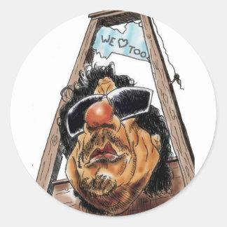 Gaddafi Libya Love u Classic Round Sticker