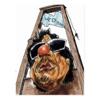 Gaddafi Libya Love u Postcard
