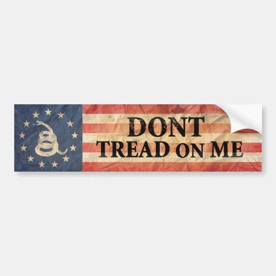 Gadsden and US 1776 Flag Bumper Sticker