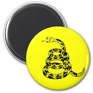 Gadsden Coiled Rattlesnake 6 Cm Round Magnet