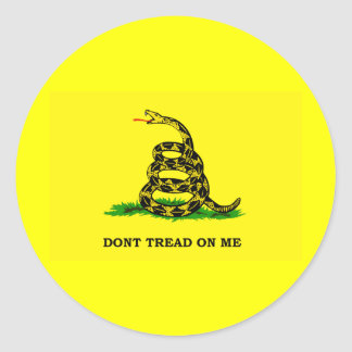 Gadsden Flag - DON T TREAD ON ME Round Stickers