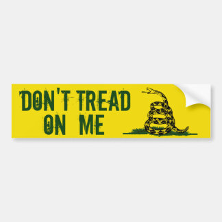 Gadsden Flag Dont Tread On Me Bumper Sticker