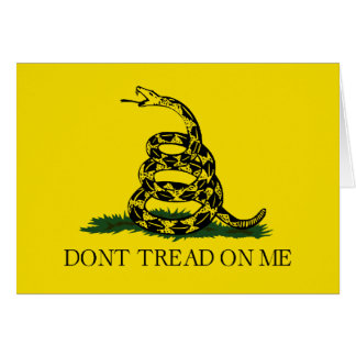 Gadsden Flag - Don't Tread On Me Card