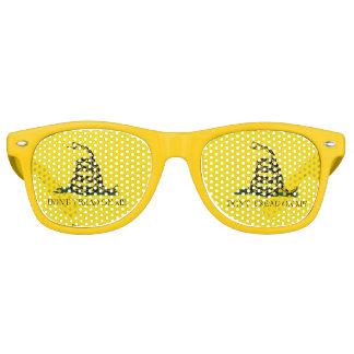 Gadsden Flag - Don't Tread On Me -  Coiled Snake Retro Sunglasses