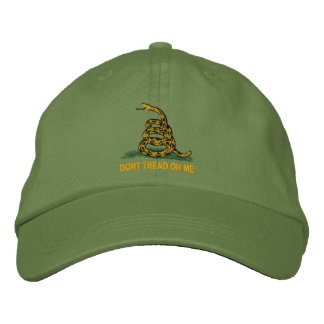 Gadsden Flag Dont Tread On Me Embroidered Baseball Caps