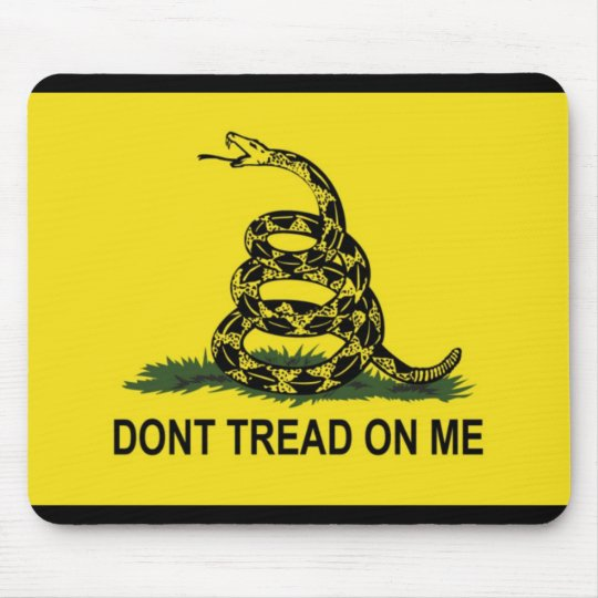 Gadsden Flag Dont Tread On Me Mouse Pad
