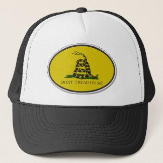 Gadsden Flag Dont Tread On Me Oval Design Trucker Hat