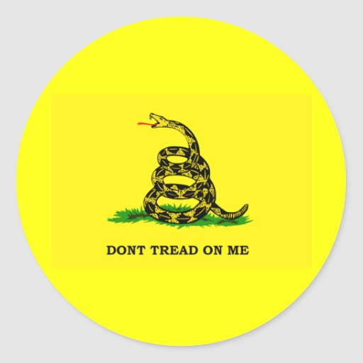 Gadsden Flag - DON'T TREAD ON ME Round Stickers