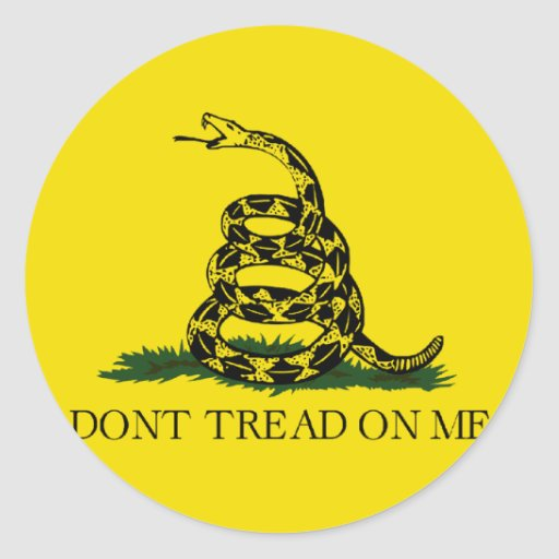 Gadsden Flag - Don't Tread On Me Stickers