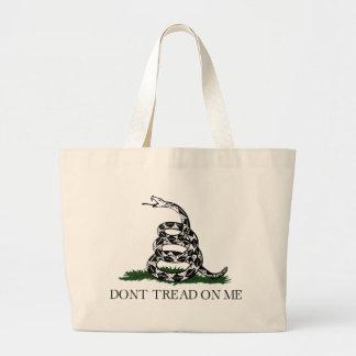 "Gadsden Flag ""Don't Tread On Me"" Jumbo Tote Bag"