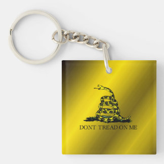 Gadsden Flag Double-Sided Square Acrylic Key Ring