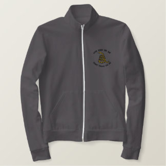 Gadsden Flag Embroidered Fleece Embroidered Jackets
