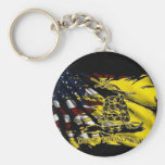 Gadsden Flag - Liberty Or Death Basic Round Button Key Ring