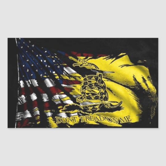 Gadsden Flag - Liberty Or Death Rectangular Sticker