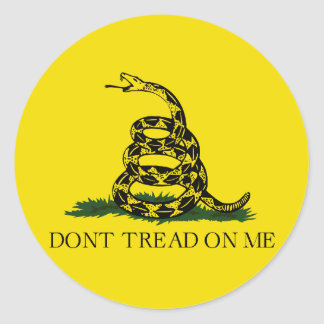 Gadsden Flag Round Sticker