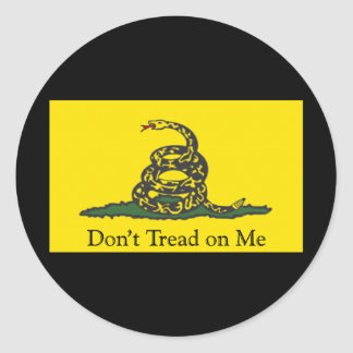 Gadsden Flag Round Stickers