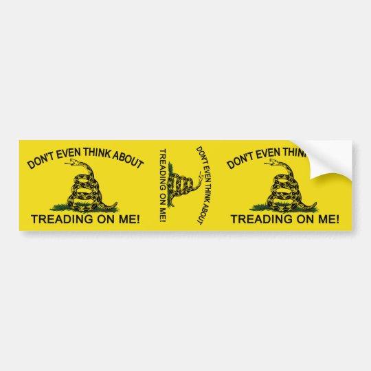 Gadsden Flag updated Bumper Sticker
