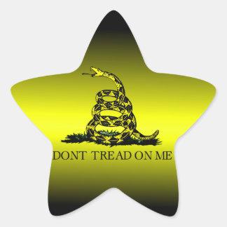 Gadsden Flag Yellow and Black Fade Star Sticker