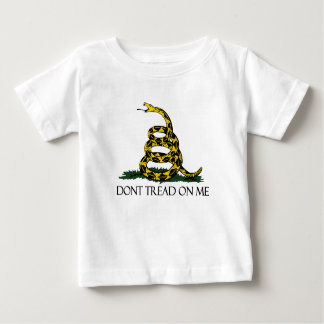 Gadsden Flag, Yellow Background Baby T-Shirt