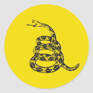 Gadsden Snake - Black Stickers
