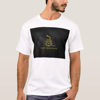 Gadsden Snake On Faux Leather T-Shirt