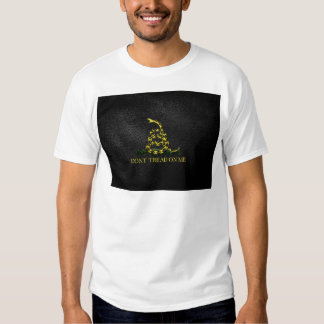 Gadsden Snake On Faux Leather Tshirts