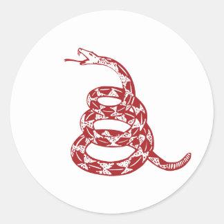 Gadsden Snake - Red Round Sticker