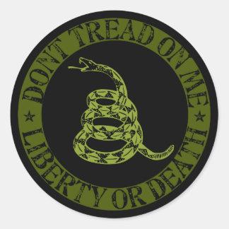 Gadsden Sticker (Green)