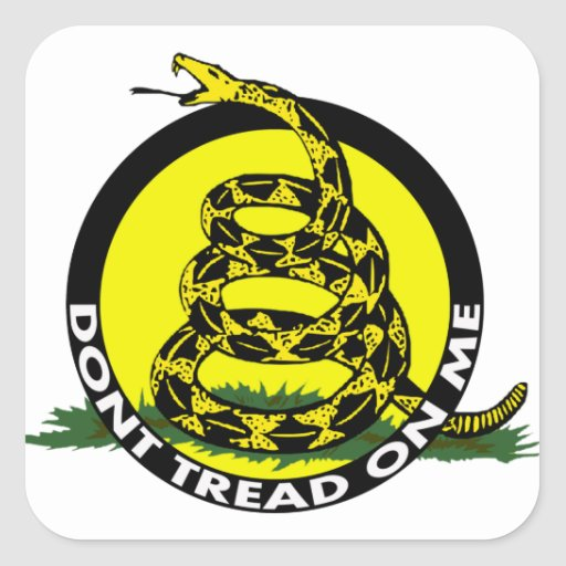 Gadsden Symbol - Don't Tread On Me Stickers