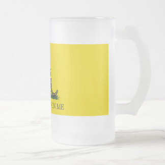 gadsden ug frosted glass mug