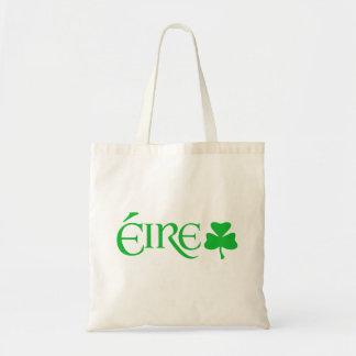 Gaelic Éire Ireland Shamrock Symbol Irish Heritage Budget Tote Bag