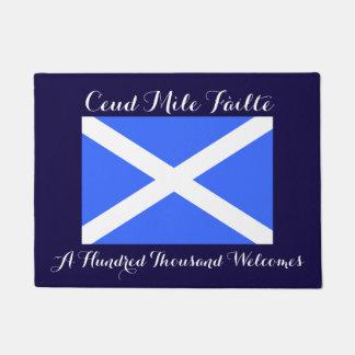Gaelic Hundred Thousand Welcomes Scotland Flag Doormat