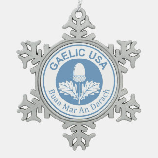 GaelicUSA Snowflake Charm Pewter Snowflake Decoration