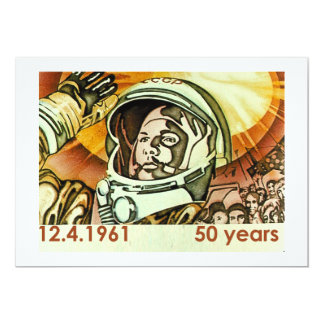 Gagarin 2 13 cm x 18 cm invitation card