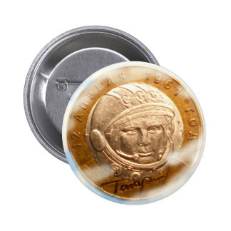 (gagarin 6 cm round badge