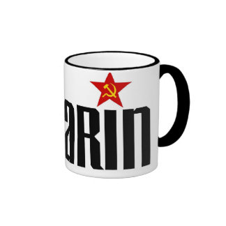Gagarin Red Star Ringer Mug