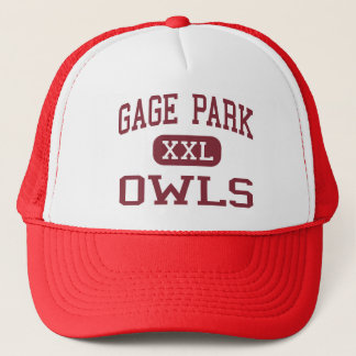 Gage Park - Owls - High School - Chicago Illinois Trucker Hat