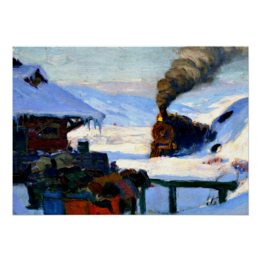 Gagnon - The Train, Baie-Saint-Paul Poster